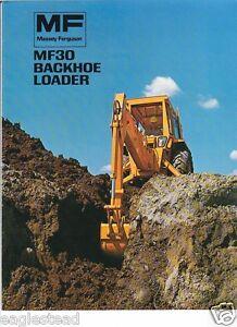Details about Equipment Brochure - Massey Ferguson - MF 30 - Backhoe Loader  - 1973 (EB331)