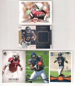 Alshon Jeffrey Rooke Card Prominence Projection S# SP, Alshon Jeffrey RC Lot x 5