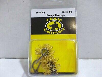 TEAM CATFISH TCF81Q FURRY THANG size 3//0 hook 2 per package NIP