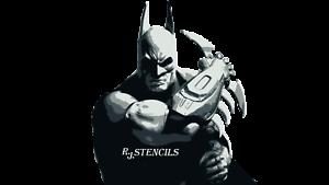 Multilayer STEP BY STEP airbrush stencil Batman