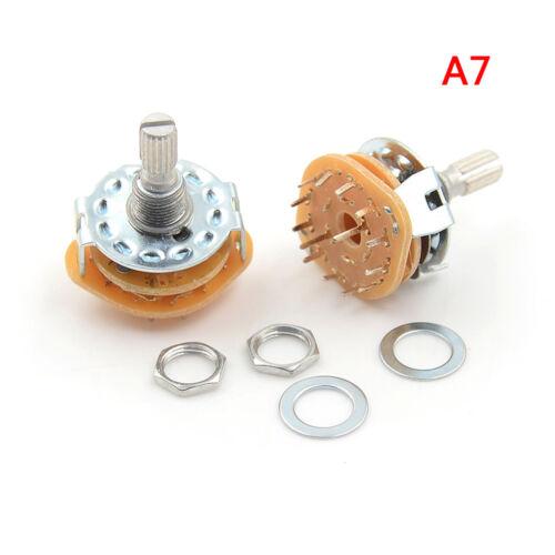 2Pcs RS25 1P11T 2P4T 2P5T 2P6T 3P3T 3P4T 4P3T Rotary Switch Selector Band—AY