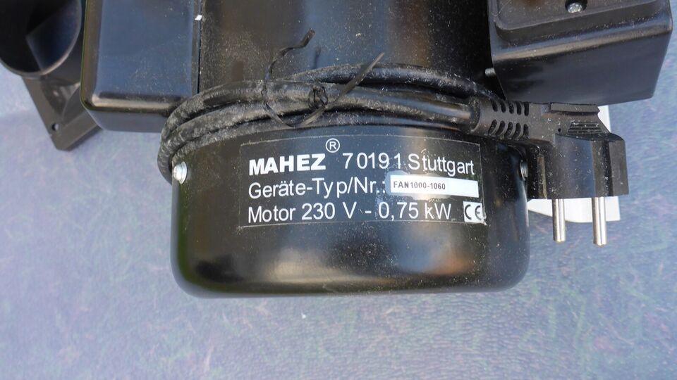 Udsugnings ventilation , MAHEZ