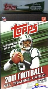 2011-Topps-Football-EXCLUSIVE-HUGE-Hanger-Box-72-Cards-16-ROOKIE-CARDS-Loaded