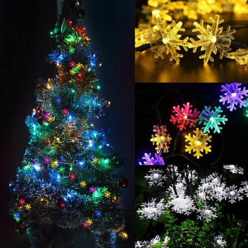 10-500 LED Solar Batterie Lichterkette Außen Innen Beleuchtung Weihnachten PZ