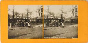 FRANCE-Paris-Le-Marche-de-Grenelle-Photo-Stereo-Vintage-Argentique-PL60L1237