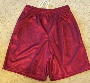 Alleson-Athletic-Mens-Adult-Mesh-Shorts-567P-MAROON-7-034-Inseam-Sz-Medium