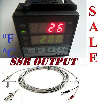 Dual Digital PID Temperature Controller SSR Output Kiln Oven °C°F + Thermocouple
