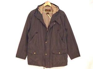 de capucha musgo algodón Niza forrado Bauer B41 mezclado Eddie L chaqueta con Vtg hombres z08w0T