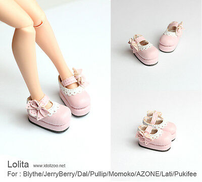 Lolita shoes_PINK for Blythe / DAL / Pullip / Momoko/ Lati_y/Pukifee