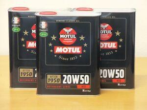 7-70-l-Motul-Classic-Motor-Oil-SAE-20W50-3-x-2-ltr-mineral-oil-for-oldtimer