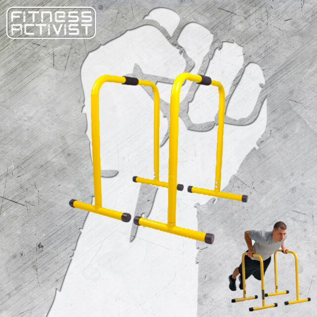 b47f10cd37d EQUALISER PARALLETTE PARALLEL BAR DIP CHIN UPS HAND STAND PUSH UP GYM  DIPPING
