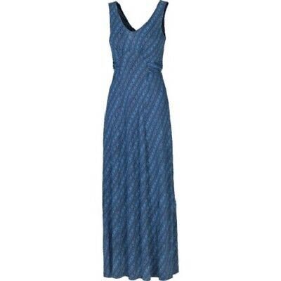 100/% Viscose Bea Liana Maxi Dress Women/'s BNWT Blue Fat Face