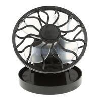 Energy Saving Clip-on Solar Cell Fan Sun Power Energy Panel Cooling Black