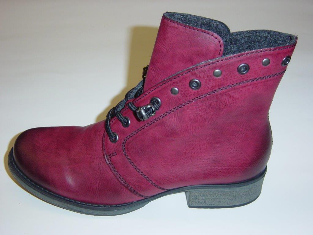 Rieker Stiefel Boots Stiefeletten   bordeaux-red (bordo)   Warmfutter   38 41