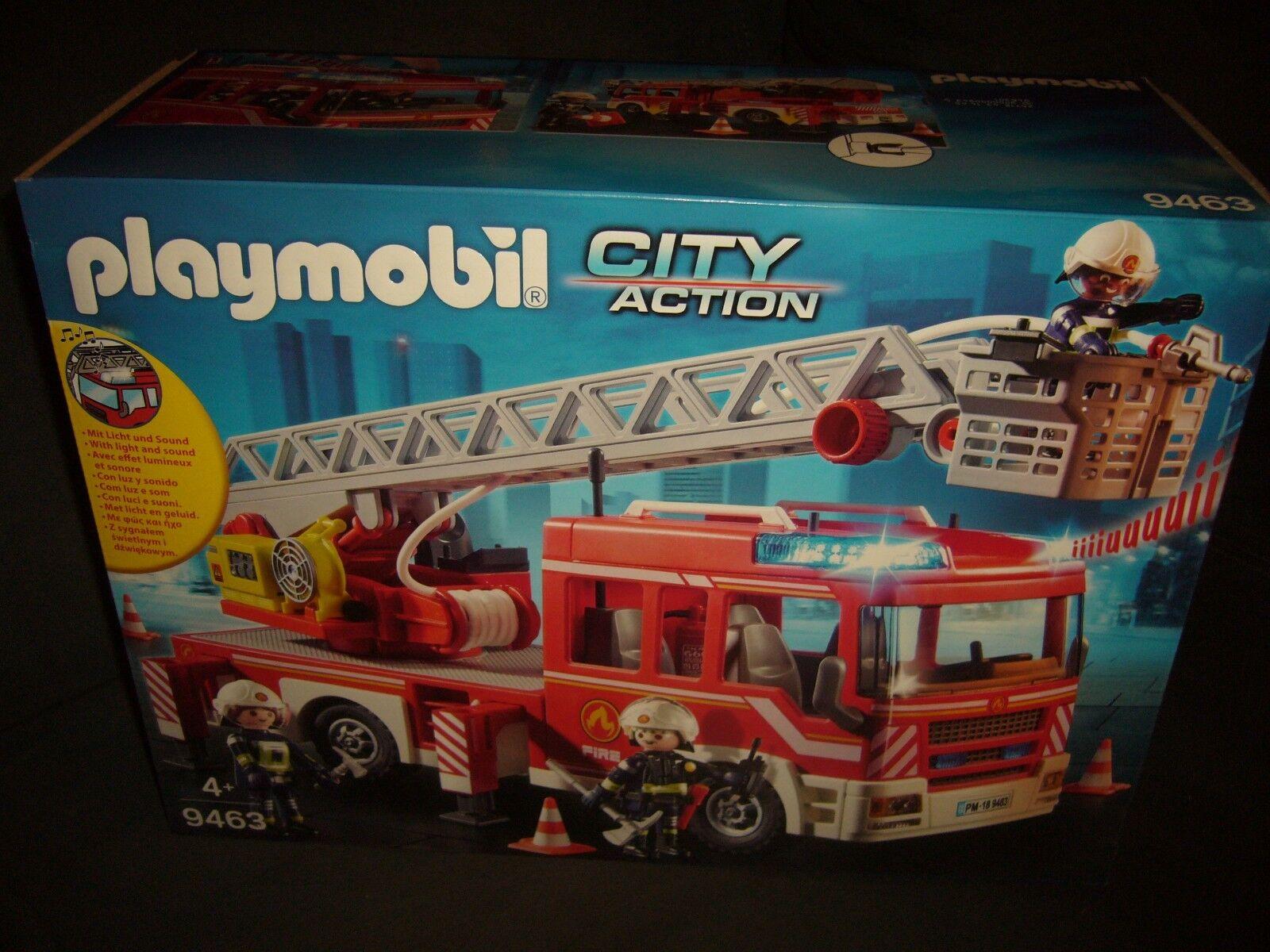 Playmobil 9463 Feuerwehr -Leiterfahrzeug City Action Feuerwehrauto RC fähig