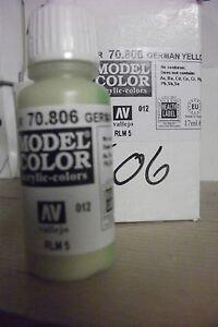 Peinture Hobby Modèle 17ml Bouteille val806 AV Vallejo Modèle Couleur-Jaune allemand  </span>