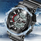 Mens LED Digital Multifunction Waterproof Sport Military Shock Watches JR