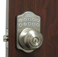 Lockey Keyless Electronic Door Lock Knob Sc Touchpad Code Remote Capable
