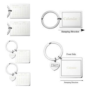 Details about Engraved Calendar Keychain Custom Meaningful Date Keyring  Birthday Anniversary