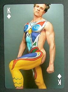 1 X Playing Card Body Art Makeup By Carlos Ponce Singer Actor Ebay
