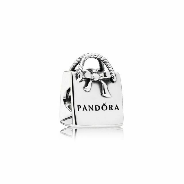 Authentic PANDORA S925 Sterling Silver Shopping Bag Charm 791184