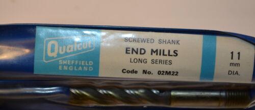 2 NOS QUALCUT 11 mm 4 Flt HSS X-Long METRIC END MILL 12mm Shank WR3A1.2
