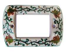 placca copri interruttore in ceramica A 7 FORI LIV TS