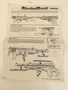 VINTAGE-PALITOY-RICOCHET-RACERS-SPARE-INSTRUCTION-SHEET
