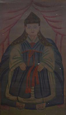 "Very Rare Korean 19th Century Scroll Shamanism ""moosokshinahm"" On Fabric Other Asian Antiques"