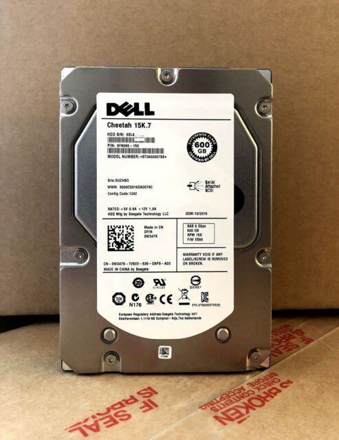 "Dell Cheetah 15K .7 W347K 0W347K ST3600057SS 600GB 6G 3.5"" SAS HDD HARD DRIVE"