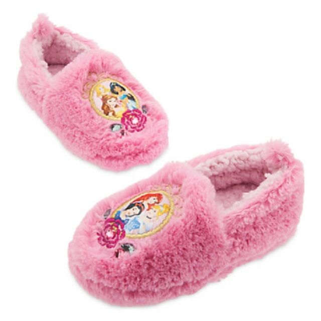 63065cbab7a DISNEY STORE DISNEY PRINCESS SLIPPERS FOR GIRLS PADDED PLUSH FOOTBED NWT