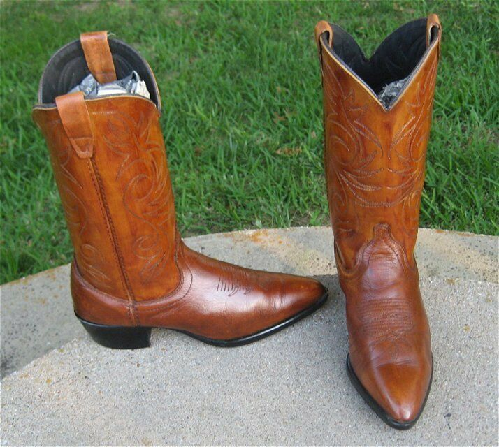 COWGIRL'S  POINTED TOE  WESTERN   stivali  LADIES 7.5'B