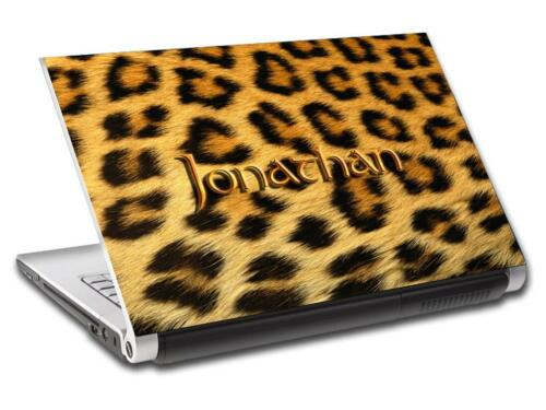 Leopard Pattern Personalized LAPTOP Skin Vinyl Decal Sticker WITH YOUR NAME L09