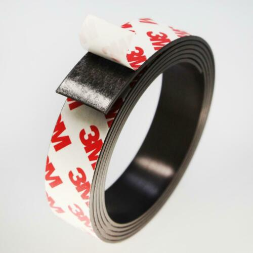 ★TheQ★ Magnetband 2 mm stark 10-50 mm breit 3M Kleber Magnetstreifen Meterware