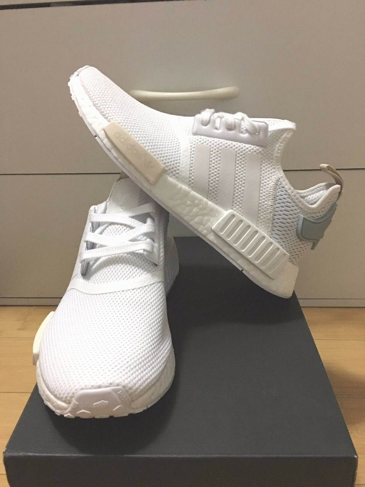 Adidas NMD R_1 White Tactile Green Cream BA7752 Women 7.5-9.5US100%AUTHENTIC