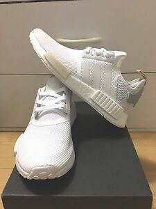 Adidas NMD R 1 White Tactile Green Cream BA7752 Women 7.5-9.5US  100 ... f41baf856