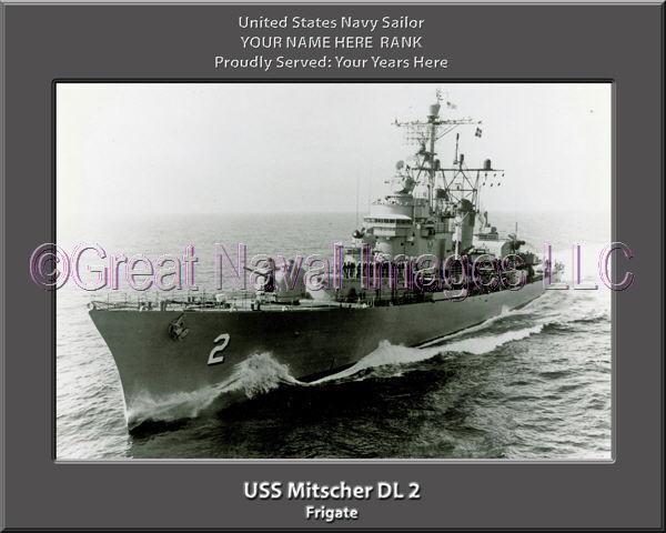 USS Mitscher DL 2 Personalized Canvas Ship Photo Print Navy Veteran Gift