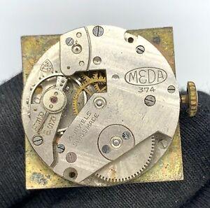 Meda-Cal-MST-374-Main-Manuel-Vintage-23-mm-Pas-Fonctionne-pour-Pieces