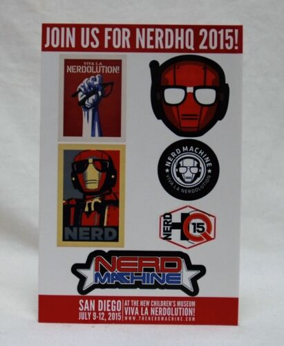 July Heros 2  Loot Crate Exclusive NerdHQ 2015 Promotional Stickers New