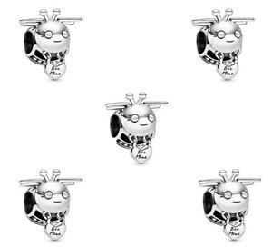 5PCS silver European CZ Charm Pendant Beads fit European Bracelet