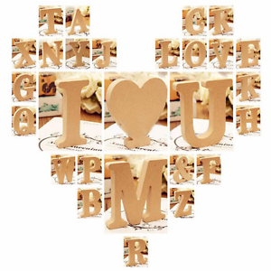 Freestanding Wood Wooden A-&-Z Letters Alphabet Decor 15MM Thick! 10CM High