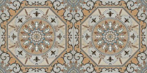 0,5m² //4 Stk spanische Keramikfliesen Wandornament Hoceima 756-50x25x0,9cm