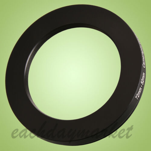 72mm to 52mm 72-52mm 72mm-52mm 72-52 mm Step Down Lens Filter Ring Adapter UK