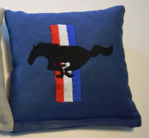 1 Quality Embroidered Replacement Cornhole Bag Blue Mustang!