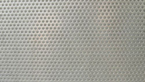 "PERFORATED 304 STAINLESS SHEET----11-1//2/"" X 24/"" == == 3//32/"" HOLE 20 GAUGE-"