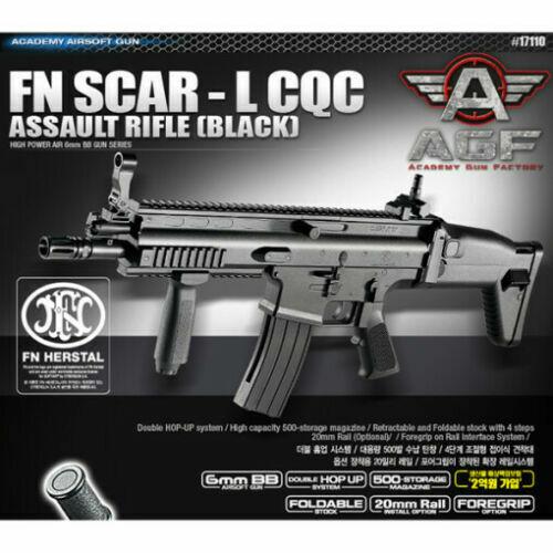 ACADEMY #17110 Assault Rifle Black Airsoft Spring Powered Hop Up BB Gun