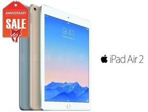Apple-iPad-Air-2nd-WiFi-Unlocked-16GB-32GB-64GB-128GB-Gray-Silver-Gold