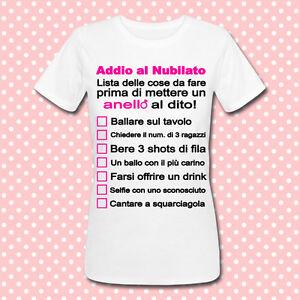 T shirt gioco addio al nubilato lista delle cose da fare - Scherzi addio al celibato idee ...