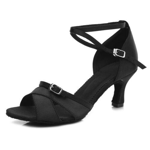 Women Girl lady/'s Latin Ballroom Tango Dance Dancing Shoes heeled Salsa B57