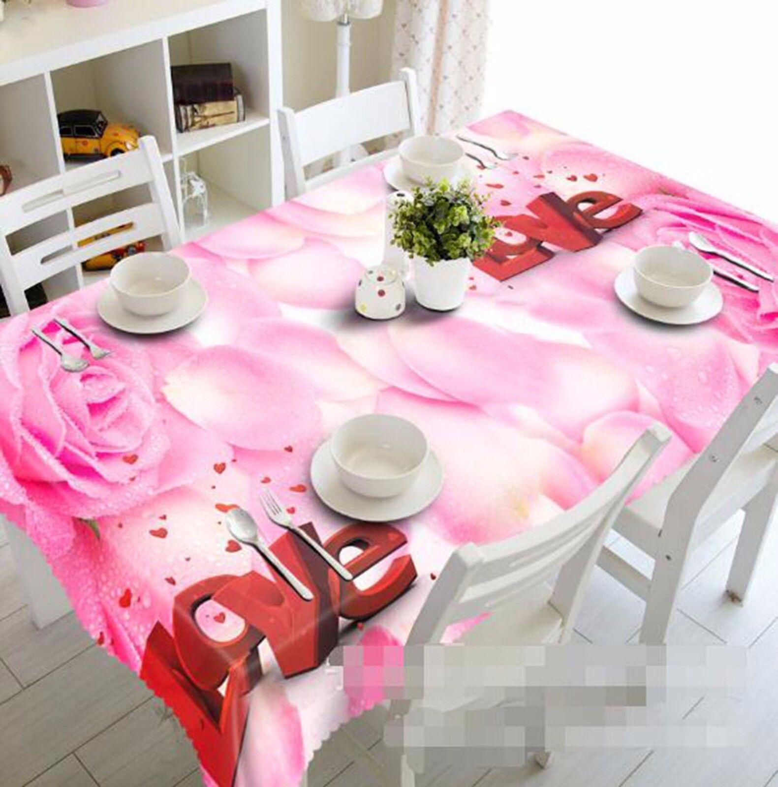 3D Petals 415 Tablecloth Table Cover Cloth Birthday Party AJ WALLPAPER UK Lemon